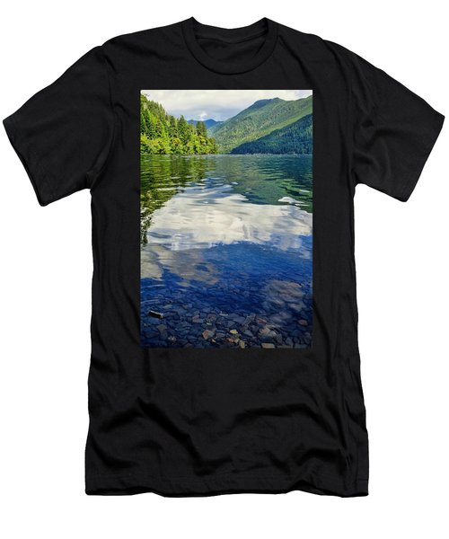 Men's T-Shirt (Athletic Fit) featuring the photograph Beautiful Lake Crescent Washington by Dan Sproul