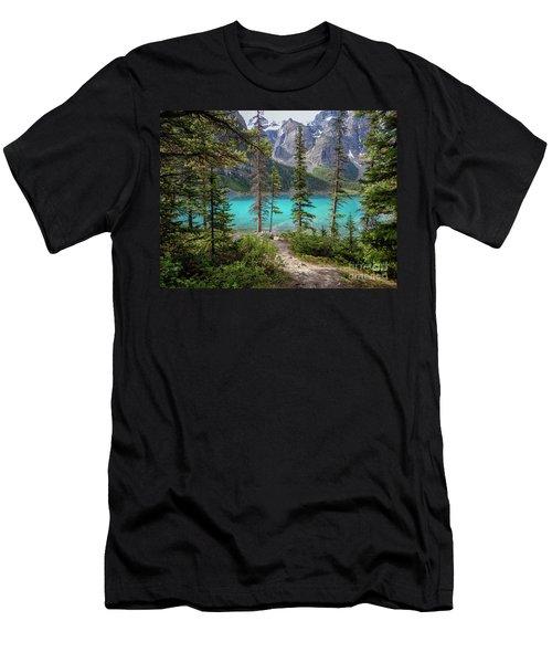Beautiful Lake Moraine Men's T-Shirt (Slim Fit) by Patricia Hofmeester