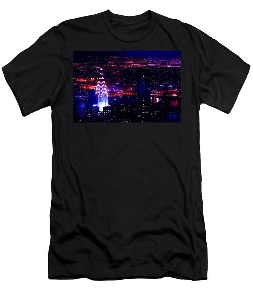 Beautiful Manhattan Skyline Men's T-Shirt (Athletic Fit)