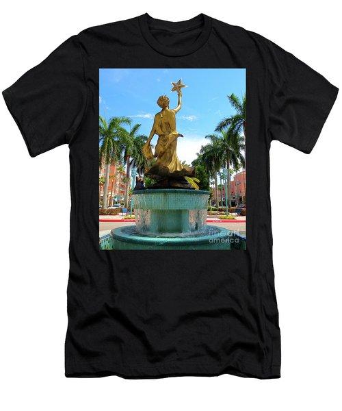 Beautiful Mizner Park In Boca Raton, Florida. Men's T-Shirt (Athletic Fit)
