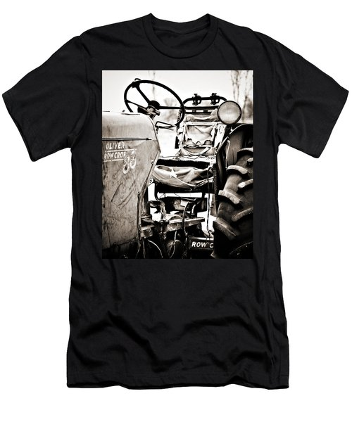 Beautiful Oliver Row Crop Old Tractor Men's T-Shirt (Slim Fit) by Marilyn Hunt