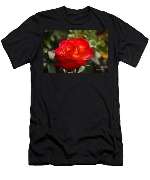 Men's T-Shirt (Athletic Fit) featuring the photograph Beautiful Rose by Frank Stallone