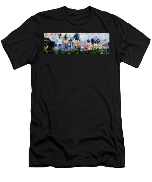Beautiful South Beach Watercolor Men's T-Shirt (Athletic Fit)
