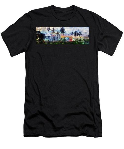 Beautiful South Beach Watercolor Men's T-Shirt (Athletic Fit)