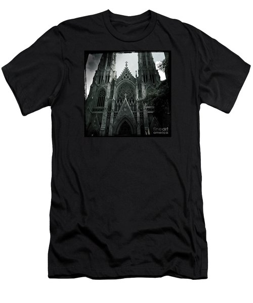 Beautiful St Patricks Cathedral Men's T-Shirt (Slim Fit) by Miriam Danar