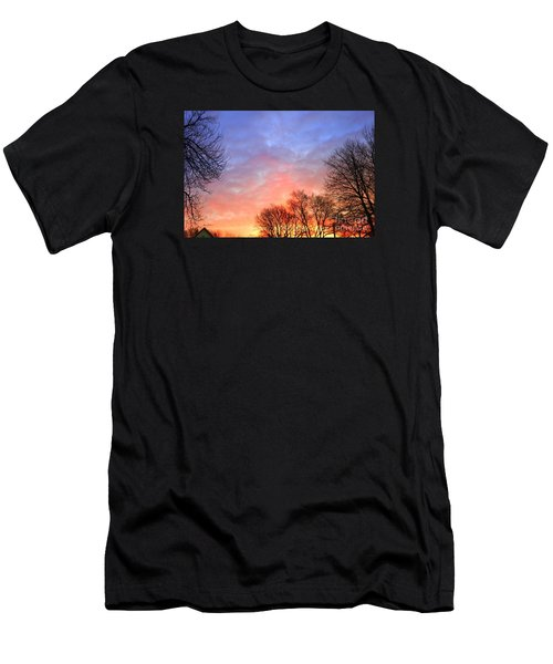 Beautiful Sunrise After Blizzard  Men's T-Shirt (Athletic Fit)