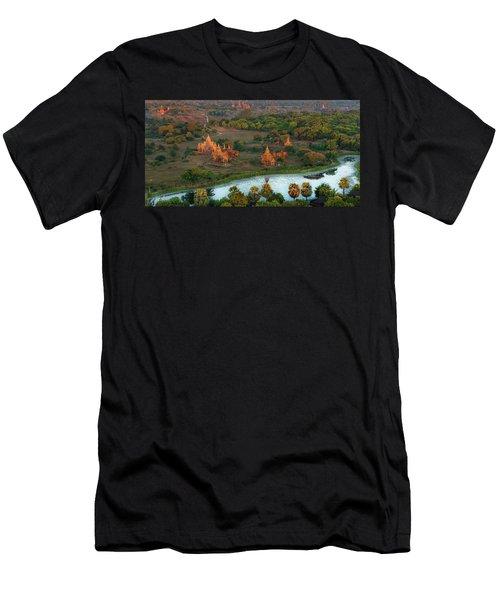 Beautiful Sunrise In Bagan Men's T-Shirt (Athletic Fit)
