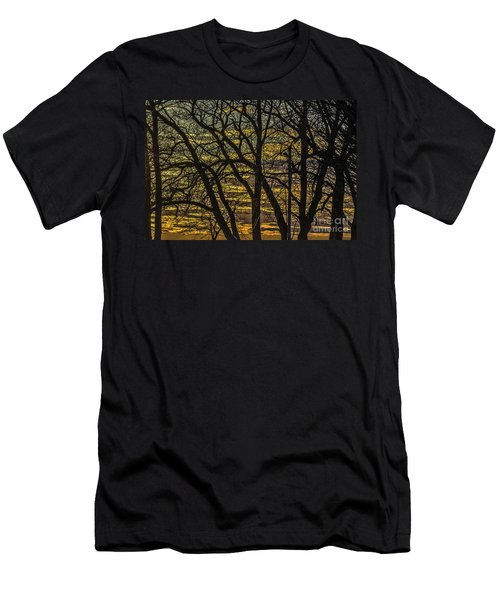 Beautiful Sunset Behind Bare Trees Men's T-Shirt (Athletic Fit)