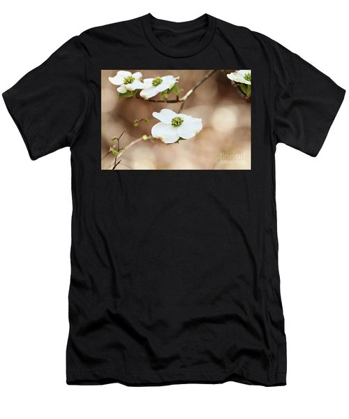 Beautiful White Flowering Dogwood Blossoms Men's T-Shirt (Athletic Fit)
