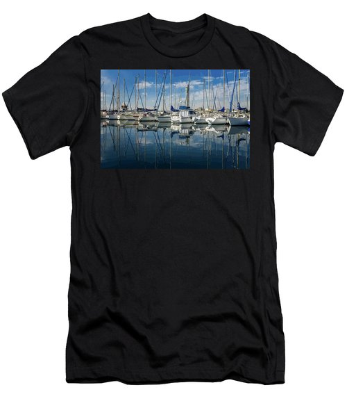 Beautiful Yachts Moored In The Marina Men's T-Shirt (Athletic Fit)
