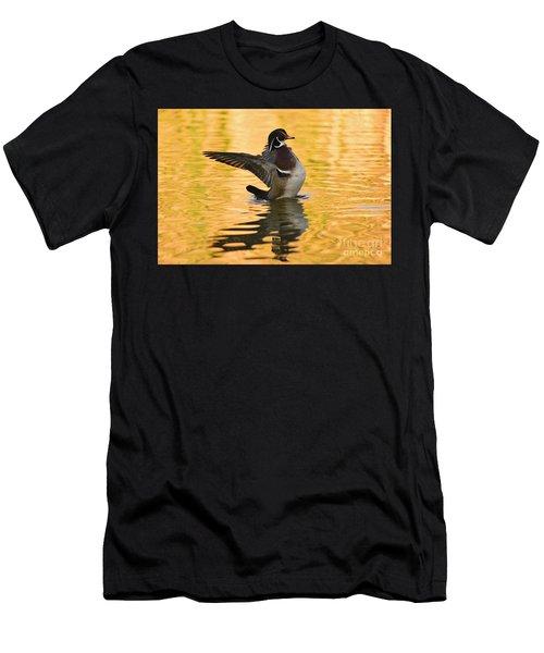 Wood Duck Sunset  Men's T-Shirt (Athletic Fit)