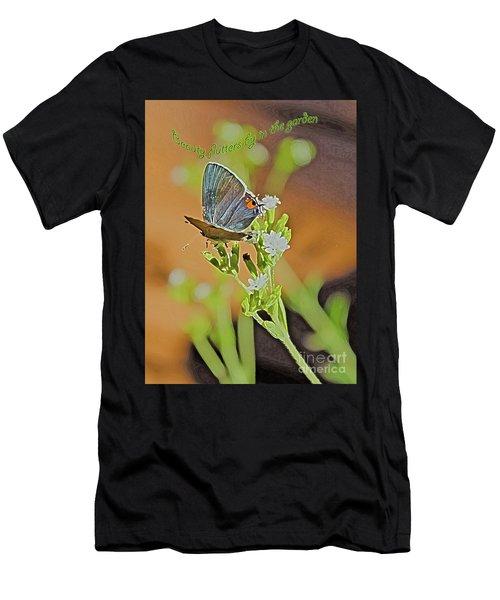 Beauty Flutters By Men's T-Shirt (Athletic Fit)