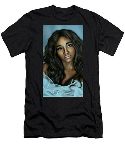 Beauty In Black Men's T-Shirt (Slim Fit) by Pat Carafa