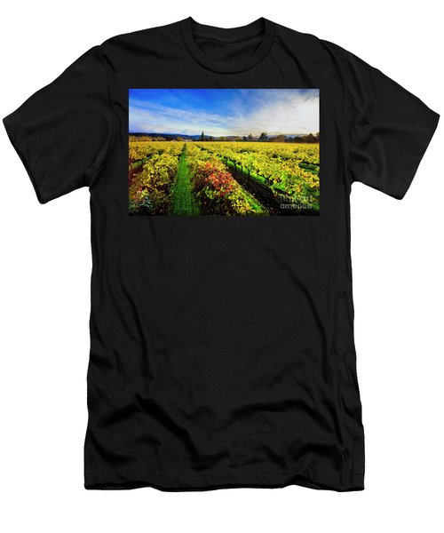 Beauty Over The Vineyard Men's T-Shirt (Athletic Fit)