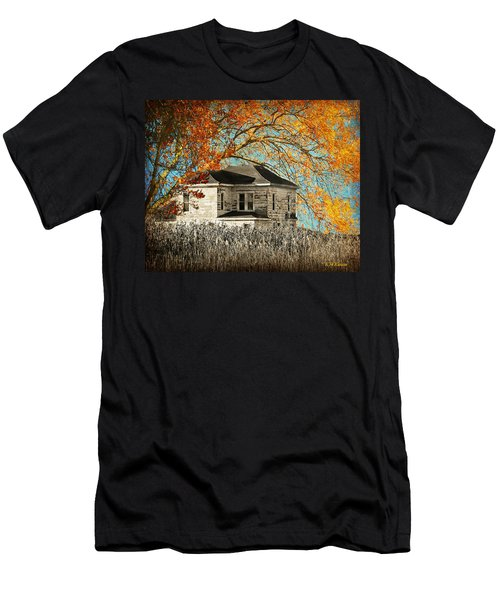 Beauty Surrounds Deserted Home Men's T-Shirt (Slim Fit) by Kathy M Krause