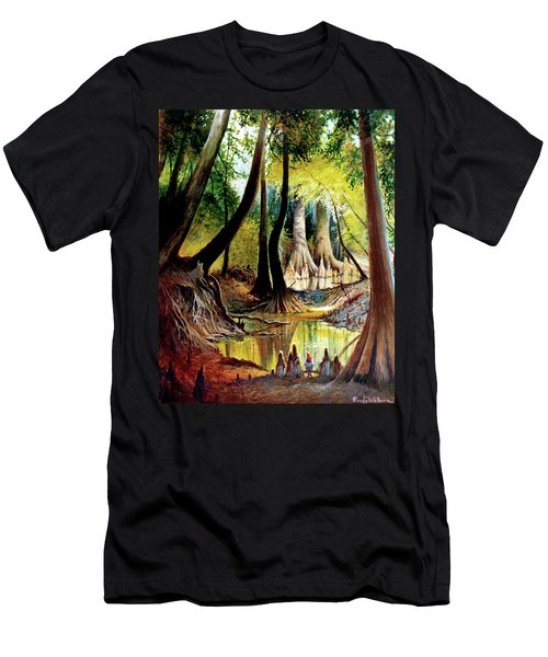 Beaver Dam On Village Creek Men's T-Shirt (Athletic Fit)