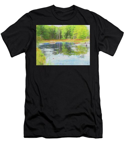Beaver Pond Reflections Men's T-Shirt (Athletic Fit)