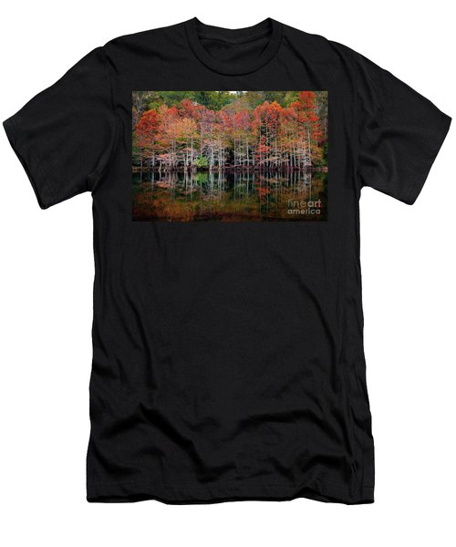 Beaver's Bend Cypress Soldiers Men's T-Shirt (Slim Fit) by Tamyra Ayles