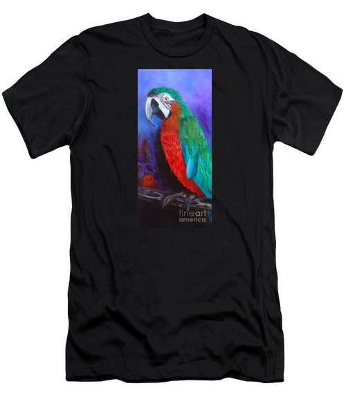 Becky The Macaw Men's T-Shirt (Slim Fit) by Jenny Lee
