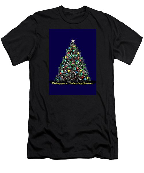 Men's T-Shirt (Slim Fit) featuring the digital art Bedazzled Christmas Card by R  Allen Swezey