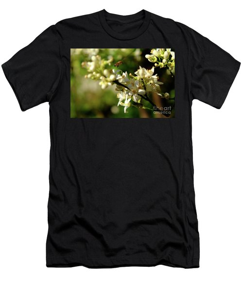 Bee Amongst The Flowers Men's T-Shirt (Athletic Fit)