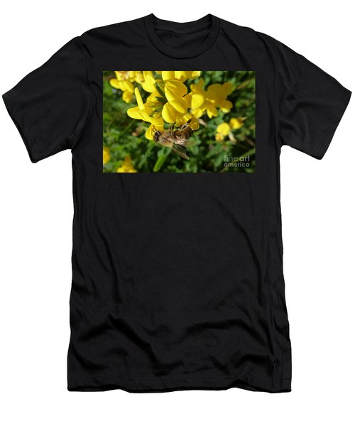 Bee And Broom In Bloom Men's T-Shirt (Athletic Fit)
