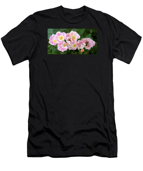 Bee And Roses Men's T-Shirt (Athletic Fit)