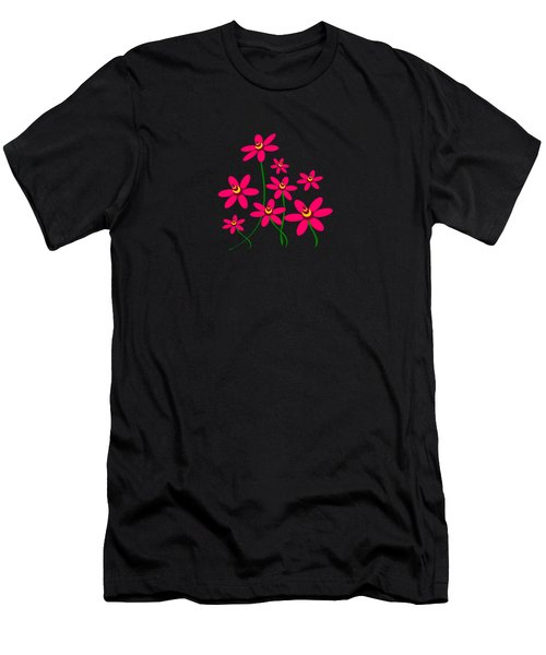 Bee Flowers Men's T-Shirt (Athletic Fit)