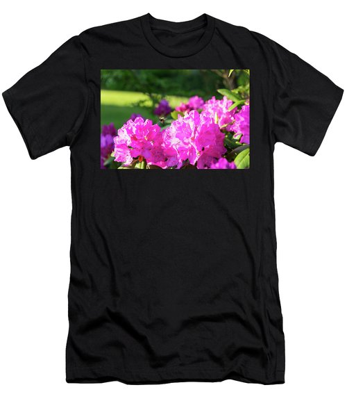 Bee Flying Over Catawba Rhododendron Men's T-Shirt (Athletic Fit)