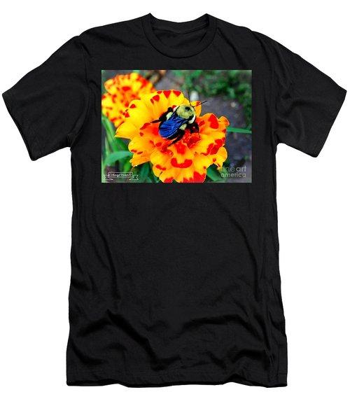 Bee Happy   Men's T-Shirt (Athletic Fit)