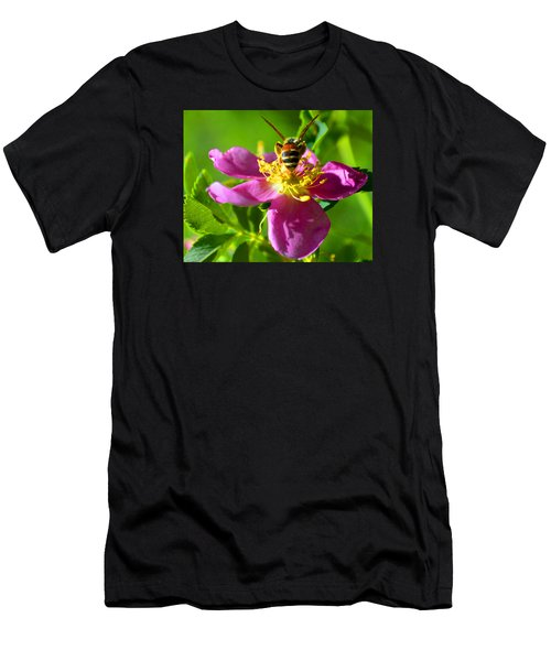 Bee Here Now Men's T-Shirt (Athletic Fit)