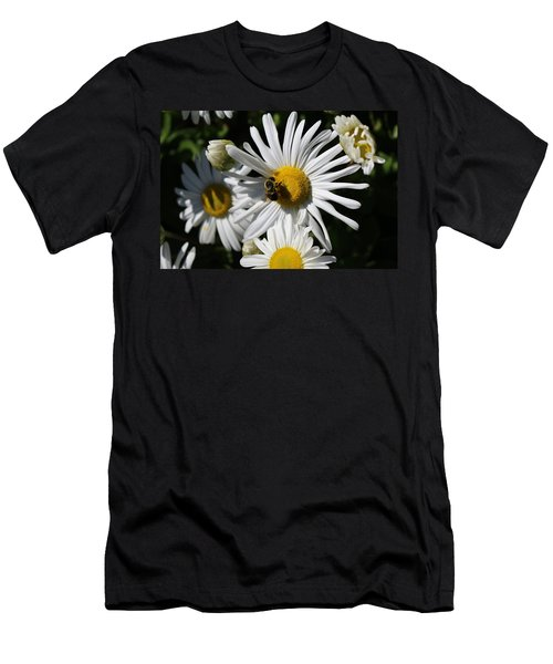 Bee On Flower 1 Men's T-Shirt (Athletic Fit)