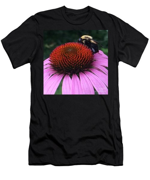 Bee On Flower By Saribelle Rodriguez Men's T-Shirt (Athletic Fit)