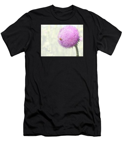 Bee On Giant Thistle Men's T-Shirt (Athletic Fit)