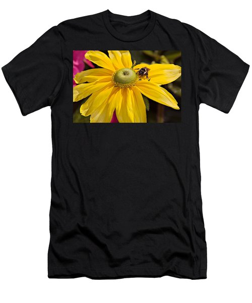 Bee On Yellow Cosmo Men's T-Shirt (Athletic Fit)