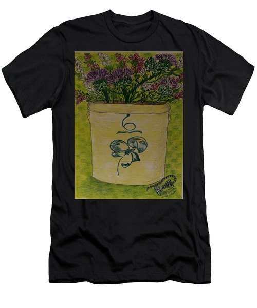 Bee Sting Crock With Good Luck Bow Heather And Thistles Men's T-Shirt (Athletic Fit)
