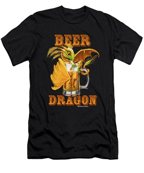Beer Dragon Men's T-Shirt (Athletic Fit)