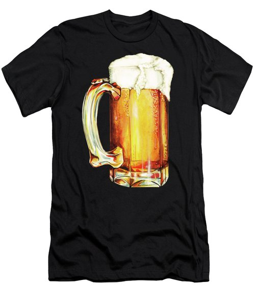 Beer Pattern Men's T-Shirt (Athletic Fit)