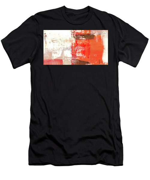 Behind The Corner - Warm Linear Abstract Painting Men's T-Shirt (Athletic Fit)