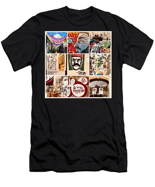 Beirut Funky Shots Men's T-Shirt (Athletic Fit)