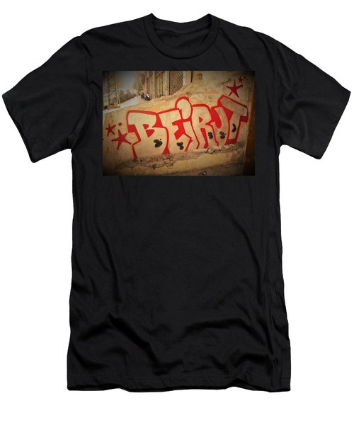 Beirut On A Graffiti Wall Men's T-Shirt (Athletic Fit)