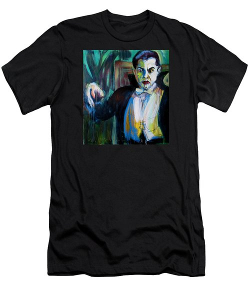 Men's T-Shirt (Slim Fit) featuring the painting Bela by Les Leffingwell