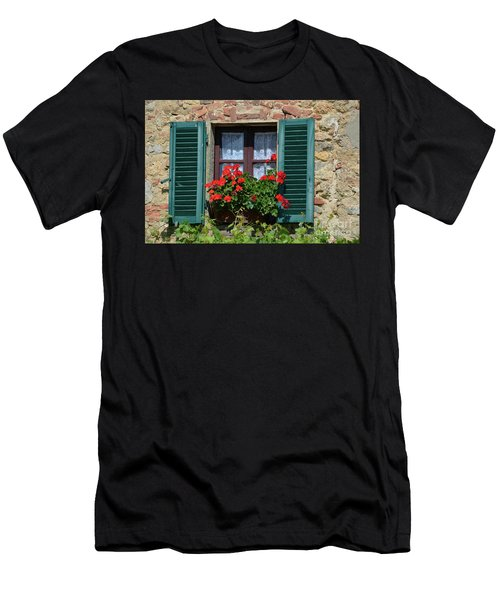 Bella Italian Window  Men's T-Shirt (Athletic Fit)