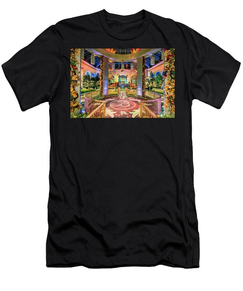Bellagio Conservatory Fall Peacock Display Gazebo View 2017 Men's T-Shirt (Athletic Fit)