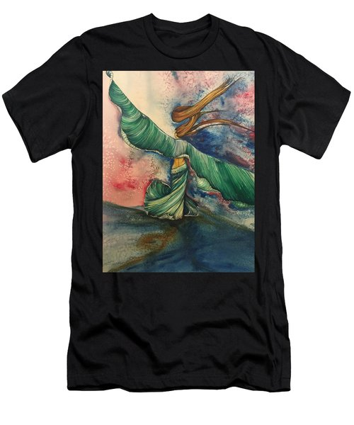Belly Dancer With Wings  Men's T-Shirt (Athletic Fit)