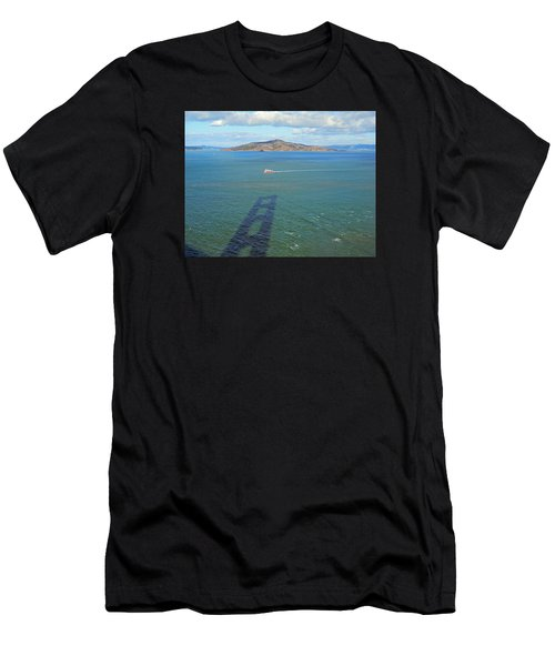 Below And Beyond The Golden Gate Bridge Men's T-Shirt (Athletic Fit)