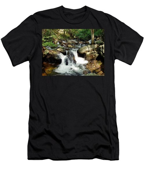 Men's T-Shirt (Slim Fit) featuring the photograph Below Anna Ruby Falls by Jerry Battle