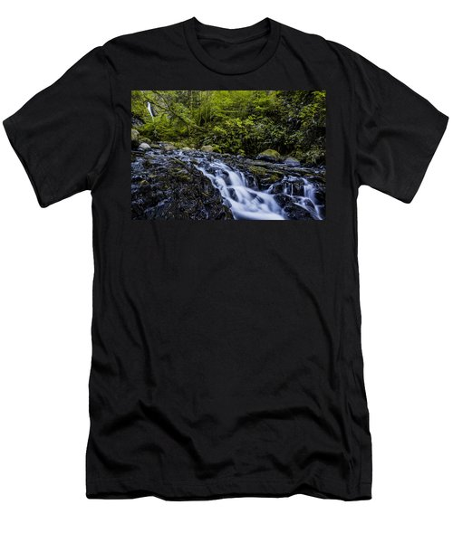 Below Pony Tail Falls Men's T-Shirt (Athletic Fit)