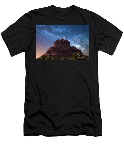 Below The Milky Way At Bell Rock Men's T-Shirt (Athletic Fit)
