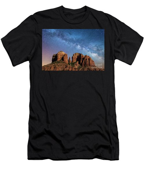 Below The Milky Way At Cathedral Rock Men's T-Shirt (Athletic Fit)